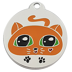 Aluminum-Cute-Dog-Pet ID Tag-Pet Tag-FulgorDesign