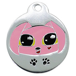 Aluminum-Enamel-Pet-ID-Tag-Kitty-Cat-FulgorPet