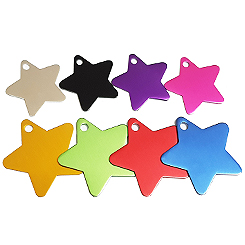 Aluminum-Star-Pet ID Tag-Pet Tag-FulgorDesign