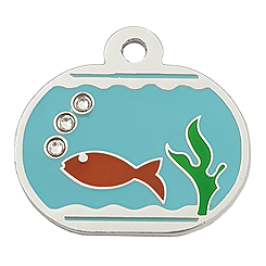 Aluminum-Fish-Tank-Pet ID Tag-Pet Tag-FulgorDesign