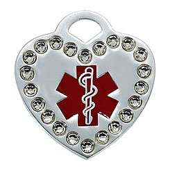 Aluminum-Swarovski-Pet-ID-Tag-Medical-Heart-FulgorPet