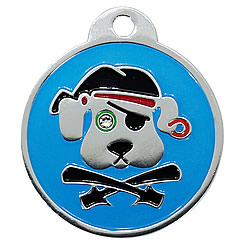 Aluminum-Swarovski-Pet-ID-Tag-Pirate-Dog-FulgorPet