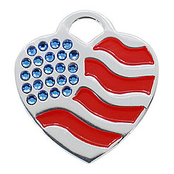 Aluminum-Swarovski-Pet-ID-Tag-USA-Flag-Heart-FulgorPet