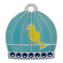 Aluminum-Swarovski-Pet-ID-Tag-bird-Enemal-FulgorPet