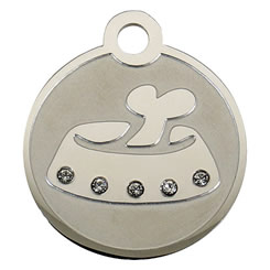 Swarovski-Bowl-Stainless-Steel-Pet-ID-Tag-FulgorPet-Left
