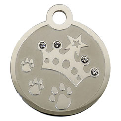 Swarovski-Crown-Stainless-Steel-Pet-ID-Tag-FulgorPet-right