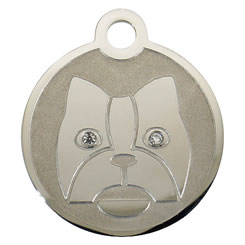Swarovski-Dog-Stainless-Steel-Pet-ID-Tag-FulgorPet-Left