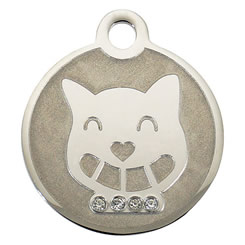 Swarovski-Happy-Cat-Stainless-Steel-Pet-ID-Tag-FulgorPet-right