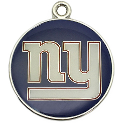 Pet-Charm-NFL-NY Giants-Pet ID Tag-Pet Tag-FulgorDesign-FulgorPet