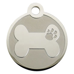 Bone-Stainless-Steel-Pet-ID-Tag-FulgorPet-NoCrystal