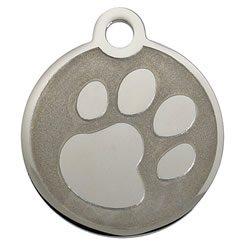 Paw-Stainless-Steel-Pet-ID-Tag-FulgorPet-NoCrystal