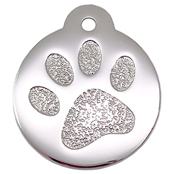 Stainless-Steel-Rock-Paw-Pet ID Tag-Pet Tag-FulgorDesign