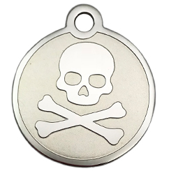Stainless-Steel-Skull-Pet ID Tag-Pet Tag-FulgorDesign