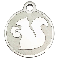 Stainless-Steel-Squirrel-Pet ID Tag-Pet Tag-FulgorDesign
