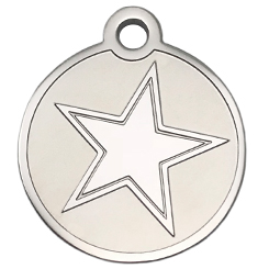 Stainless-Steel-Star-Pet ID Tag-Pet Tag-FulgorDesign