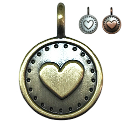 Antique Bronze Heart -Pet ID Tag-Pet Tag-FulgorDesign-FulgorPe