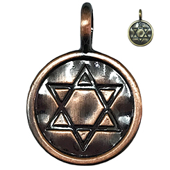 Antique Copper Hexagram -Pet ID Tag-Pet Tag-FulgorDesign-FulgorPet