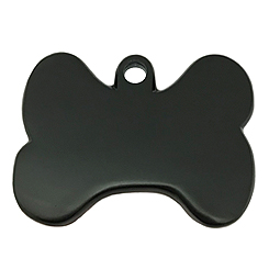 Black Gun Bone Tag-Pet ID Tag-Pet Tag-FulgorDesign-FulgorPet