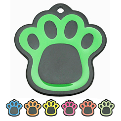Pettag-Black Plating with Enamel Color-Paw--Pet ID Tag-Pet Tag-FulgorDesign-FulgorPet