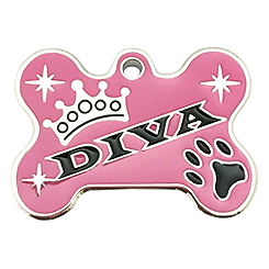 Pettag-DIVA Bone Tag-Pet ID Tag-Pet Tag-FulgorDesign-FulgorPet