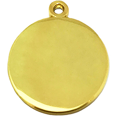Gold Round Tag-Pet ID Tag-Pet Tag-FulgorDesign-FulgorPet