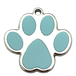 Green Paw Tag-Pet ID Tag-Pet Tag-FulgorDesign-FulgorPet