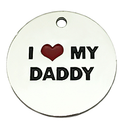 I love My Daddy Tag-Pet ID Tag-Pet Tag-FulgorDesign-FulgorPet