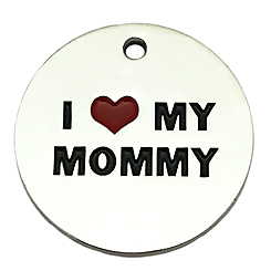 I love My Mommy Tag-Pet ID Tag-Pet Tag-FulgorDesign-FulgorPet