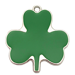 Lucky Three Leaf  Tag-Pet ID Tag-Pet Tag-FulgorDesign-FulgorPet