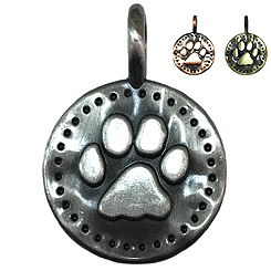 Old Pewter Paw -Pet ID Tag-Pet Tag-FulgorDesign-FulgorPet