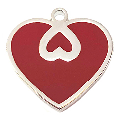 Red Heart Tag-Pet ID Tag-Pet Tag-FulgorDesign-FulgorPet