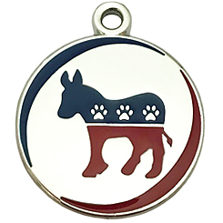 USA Democratic Party Tag-Pet ID Tag-Pet Tag-FulgorDesign-FulgorPet