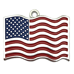 USA Flag Tag-Pet ID Tag-Pet Tag-FulgorDesign-FulgorPet