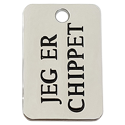 Zinc Alloy JEG ER CHIPPET Tag-Pet ID Tag-Pet Tag-FulgorDesign