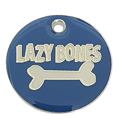 Zinc Alloy Lazy Bone bluce Tag-Pet ID Tag-Pet Tag-FulgorDesign-FulgorPet