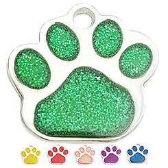 Zinc Alloy Mix Paw shiny powderTag -Pet ID Tag-Pet Tag-FulgorDesign